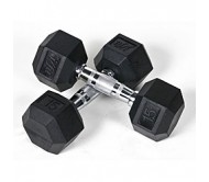 Body Maxx Hex Rubber Dumbells 2 Kg X 1 Pair