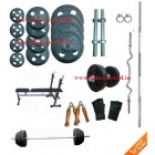 100 Kg Complete Home Gym Set, Multi 3 in 1 Bench + 4 rods + Free Gifts