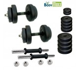 35 KG Body Maxx Adjustable Weight Lifting Rubber Dumbells Sets