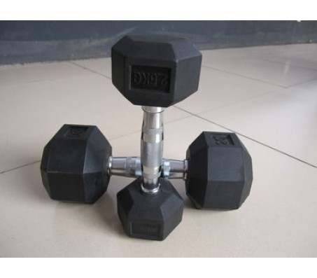 Rubber Coated Hex Dumbells 2.5 Kg x 1 Pair