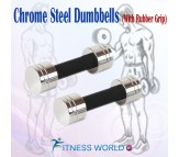 10 Kg Chrome Steel Dumbells Sets. 1 Pair