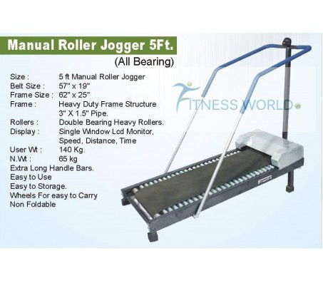 5 FT MANUAL ROLLER JOGGER FOR CLUB & HOME USE