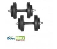 30 KG Adjustable Rubber Dumbells Sets, Plates + Rods & Gloves