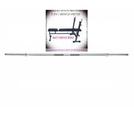 Multi Bench Press 3 in 1 (Flat + Decline + Incline) + 5 FT Bar