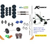 32 KG BODY MAXX PREMIUM HOME GYM PACKAGE + 5 IN 1 KAMACHI MULTI BENCH B-003