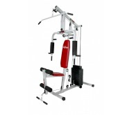 LIFELINE HOME GYM SQUARE PIPE WITH 150 LBS WTS STACKS.