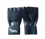 Leather Gym Gloves Along With Wrist Support  / Net Support