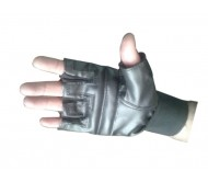 Leather Gym Gloves Along With Wrist Support