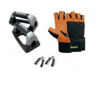 Combo Pack of Nivia Gym Gloves + Nivia Dips Stands + Hand Grippers. Buy Now..!!!