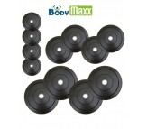 75 Kg Body Maxx Rubber Weight Plates For Home Gym Exercises Spare Weights