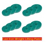 70 KG CAST IRON WEIGHT LIFTING PLATES HOME GYM SET