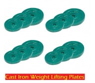 10 KG CAST IRON WEIGHT LIFTING PLATES HOME GYM SET