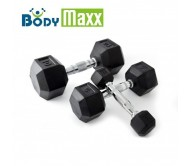 Body Maxx 95 Kg Hex Dumbells Sets. 12.5 kg + 15 kg + 20 kg X 1 Pair Each