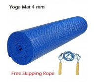 Yoga Mat + Skipping Rope Combo Offer On Fitness acceseries (YOGA MAT + ROPE)