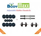 15 KG Body Maxx Adjustable Weight Lifting Rubber Dumbells Sets