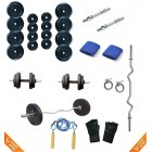 20 Kg Body Maxx Home Gym Package With 3 Ft Curl Bar + Gloves + Rope + Bands + 2 Rods + Locks