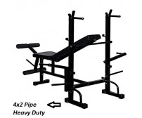 Body Maxx 8 in 1 Weight Bench 4x2 Pipe Heavy Duty