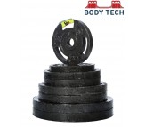 BODY TECH Bright Steering Cut 10 Kg Cast Iron Weight Lifting Plates