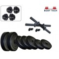 Body Tech 20Kg-Combo With 15 Inches Dumbells Rod