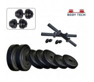 Body Tech 15Kg-Combo With 15 Inches Dumbells Rod