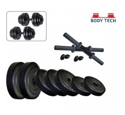 Body Tech 25Kg-Combo With 15 Inches Dumbells Rod
