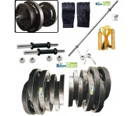 Body Maxx 10kg Cast Iron Adjustable Home Gym Set with 5 Feet Straight Rod