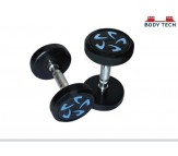 Body Tech 5kg Pair Of Pu Coated Flower Design Dumbbells