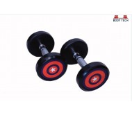 Body Tech 10kg Pair Of Pu Coated Captain America Dumbbells