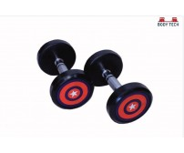 Body Tech 20kg Pair Of Pu Coated Captain America Dumbbells