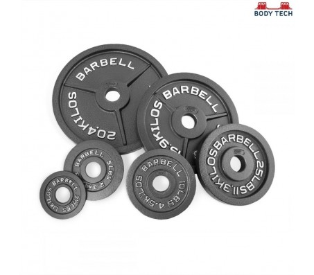 Body Tech Gripwell 20kg Cast Iron Olympic Challenge Weight Plates