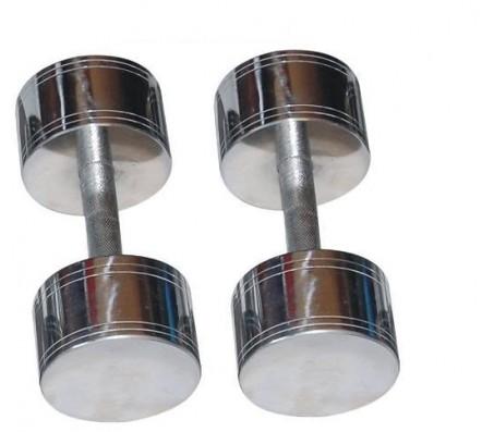 Chrome Steel Dumbells 10 KG X 2 PCS