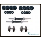 14 KG Rubber Dumbells Sets. Rubber Plates + Dumbells Rods.