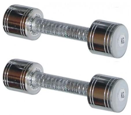 Chrome Steel Dumbells 1 KG X 2 PCS