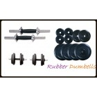 10 KG Rubber Dumbells Sets. Rubber Plates + Dumbells Rods.