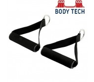 Body Tech Cable Machine Attachments Resistance Band With Solid ABS Cores- 1 Pair