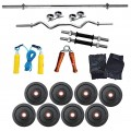 Body Maxx 20 Kg Coated Weight Lifting Home Gym Pack 4 Rods Combo 4