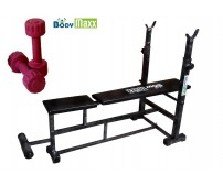 Body Maxx Multi 4 in 1 Bench Press (Incline Decline Flat Abs) With 1 Kg x 2 Pvc Dumbells