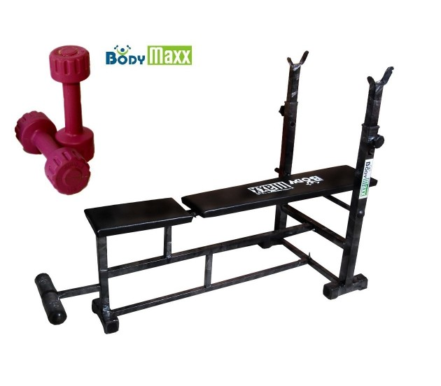 Bench Press Abs Part - 15: Body Maxx Multi 4 In 1 Bench Press (Incline Decline Flat Abs) With 1 Kg X 2  ...