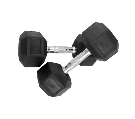 Body Maxx Hex Dumbells 10 Kg x 1 Pair