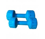 Body Maxx Colored Pvc Vinyal Dumbells x 2 No. For Home Gym Exercises (Available in Assorted Colors), 5 Kg
