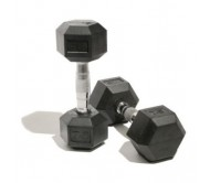 Body Maxx Hex Dumbells 5 Kg X 2 Pcs (Total 10 Kg Rubber Coated Dumbells)