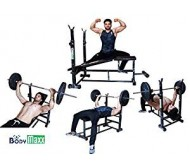 Body Maxx Incline Decline Flat Abs Multi 4 In 1 Bench Press With 2 Kg X 2 PVC Dumbells