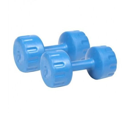Bodymaxx Colored PVC Vinyal Dumbells 3 Kg X 2 No. For Home Gym Exercises ,Multicolor