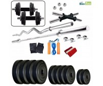 Body Maxx BM- PVC- 50 Kg Combo 14 Home Gym And Fitness Kit 4 Rods