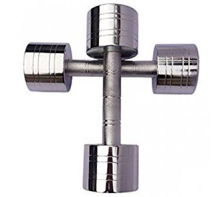 Body Maxx Chrome Steel Dumbells sets 7.5 KG X 1 PAIR